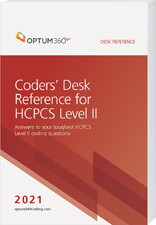 Coders' Desk Reference for HCPCS 2021 Book Cover