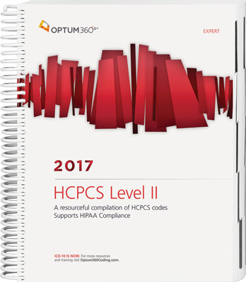 HCPCS Level II 2017 Expert Spiral Book Cover