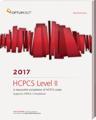 HCPCS Level II 2017 Professional Book Cover